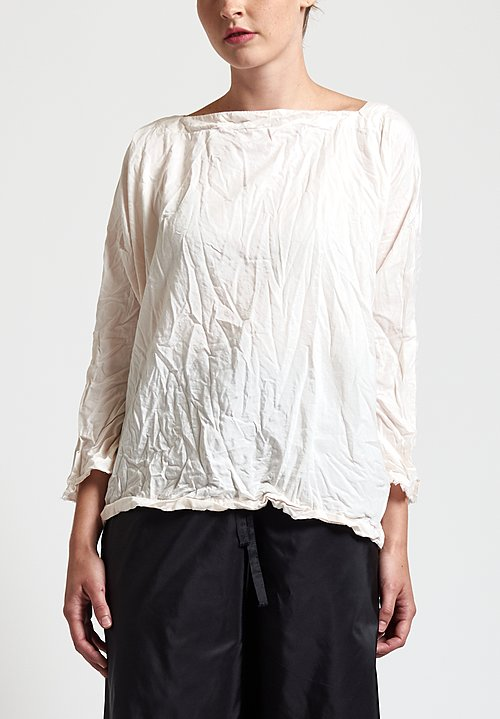Daniela Gregis Square Top in Peach
