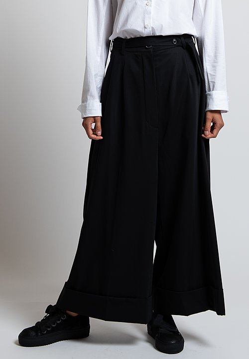Rundholz Wide Leg Pants in Black