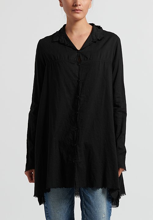 Rundholz Dip Semi-Sheer Layered Shirt in Black