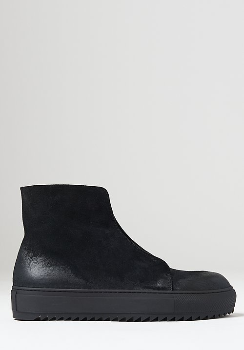 Rundholz Black Label Suede Ankle High Shoe in Black