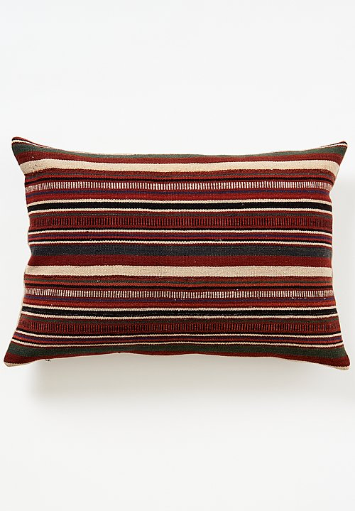 Vintage Hemp Yi Xundian Yunnan Pillow in Brick