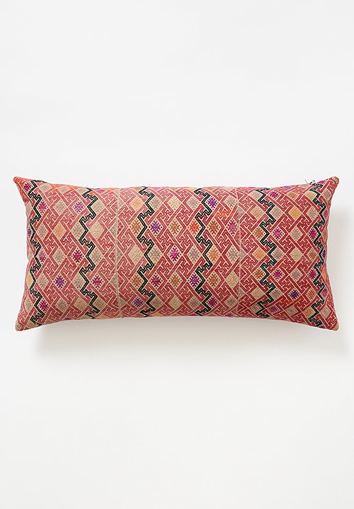 Zhuang Silk & Indigo Dyed Pillow in Pink