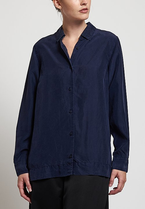 Casey Casey Silk Chloe Shirt in Dark Navy