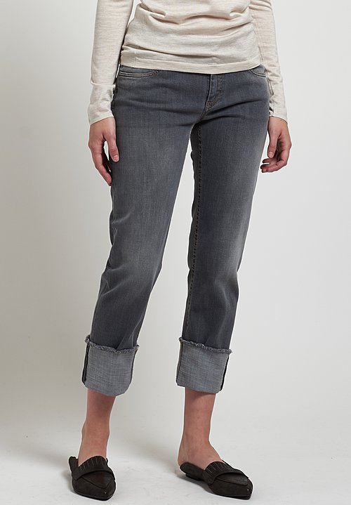 Brunello Cucinelli Stretch Denim Jeans in Medium Grey