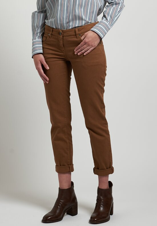 Brunello Cucinelli Straight Slim Fit Jeans in Cinnamon