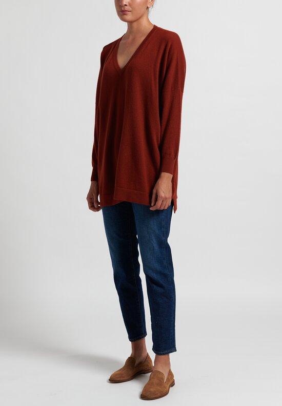 Hania New York Marley V-Neck Sweater in Harissa