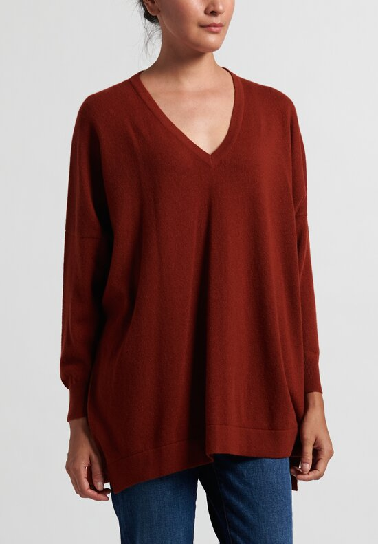 Hania New York Marley V-Neck Sweater in Orange