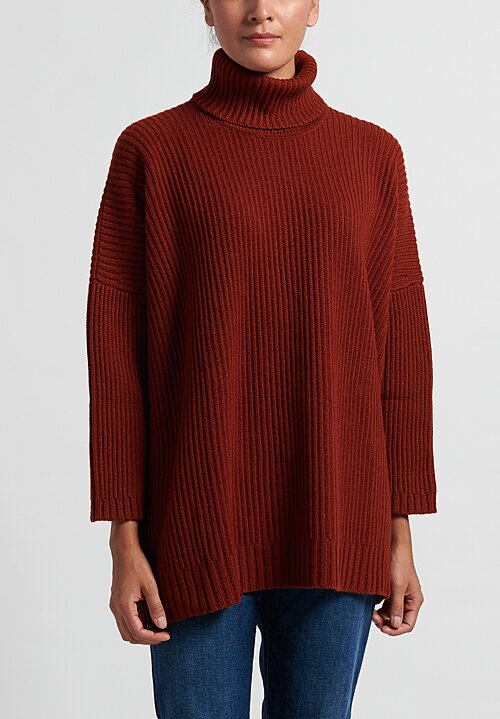 Hania New York Marisa Turtleneck Sweater in Harissa