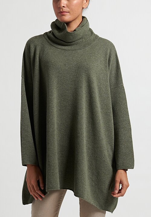 Hania New York Cowl Neck Sweater in Moss