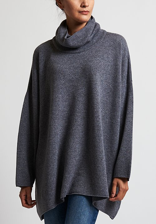 Hania New York Cowl Neck Sweater in Smog
