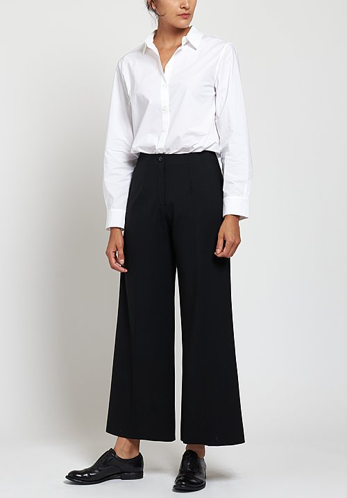 Peter O. Mahler Wide Leg Pants in Black