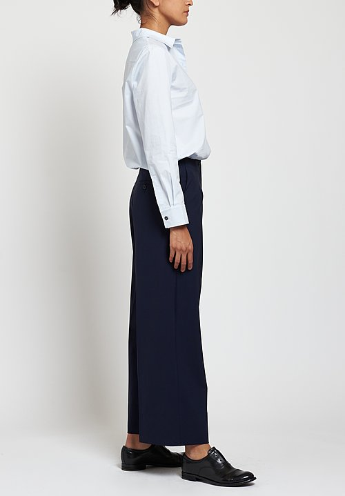 Peter O. Mahler Wide Leg Pants in Navy