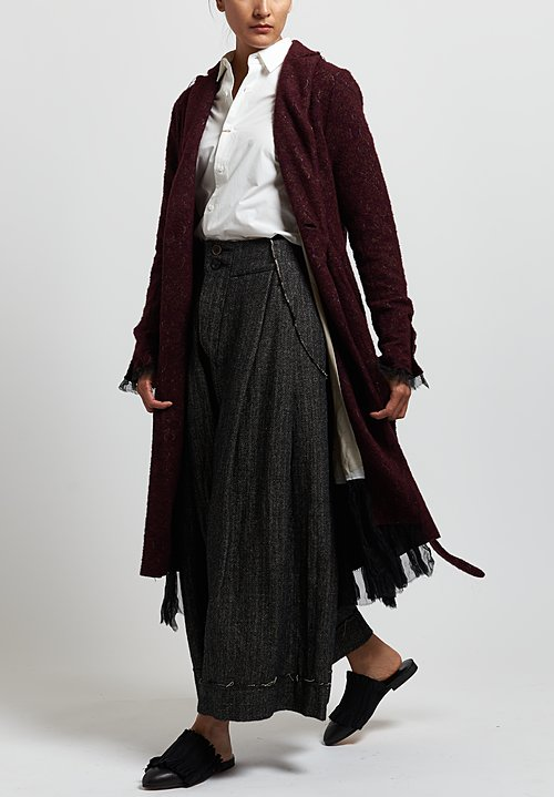 A Tentative Atelier Jacquard Patch ''Jonis'' Coat in Reddish Brown