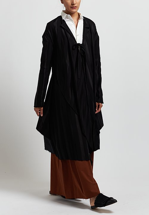 A Tentative Atelier Striped ''Sigńac'' Dress in Black