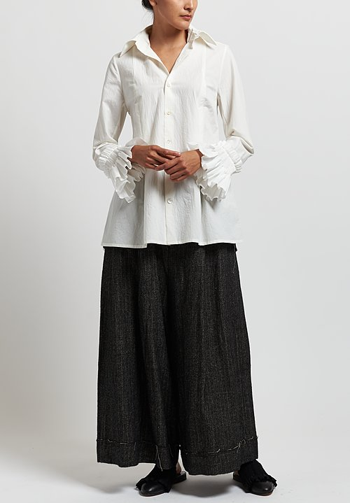 A Tentative Atelier ''Aliye'' Blouse in White