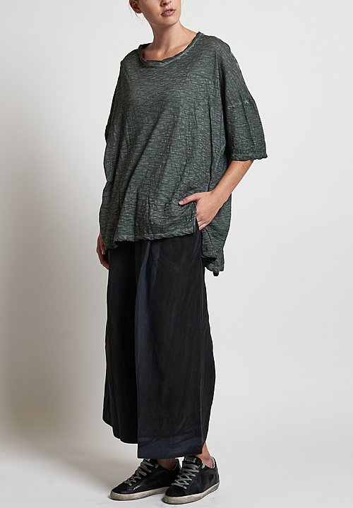 Gilda Midani Solid Dyed Super Tee in Dark Green