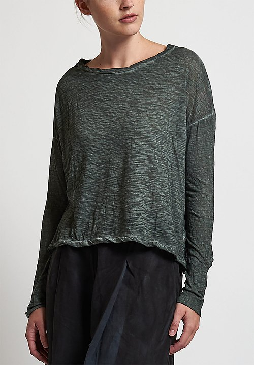 Gilda Midani Trapeze Tee in Dark Green