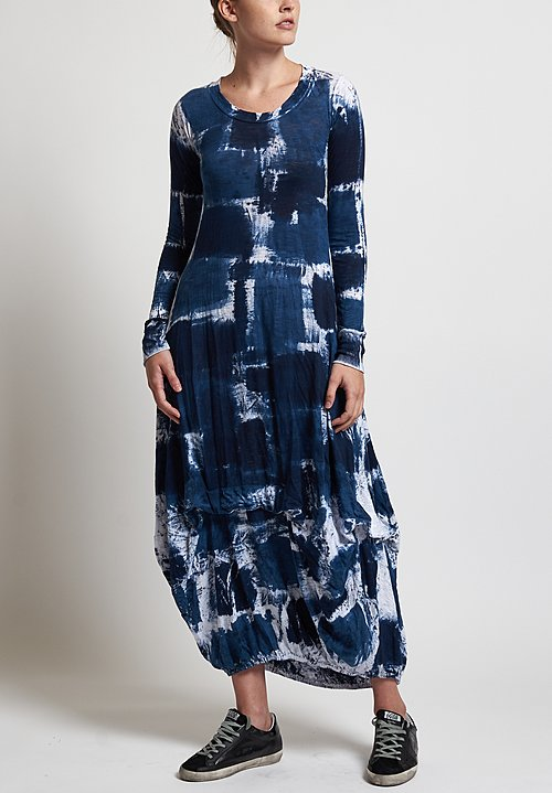 Gilda Midani Balloon Dress in Blue Gall