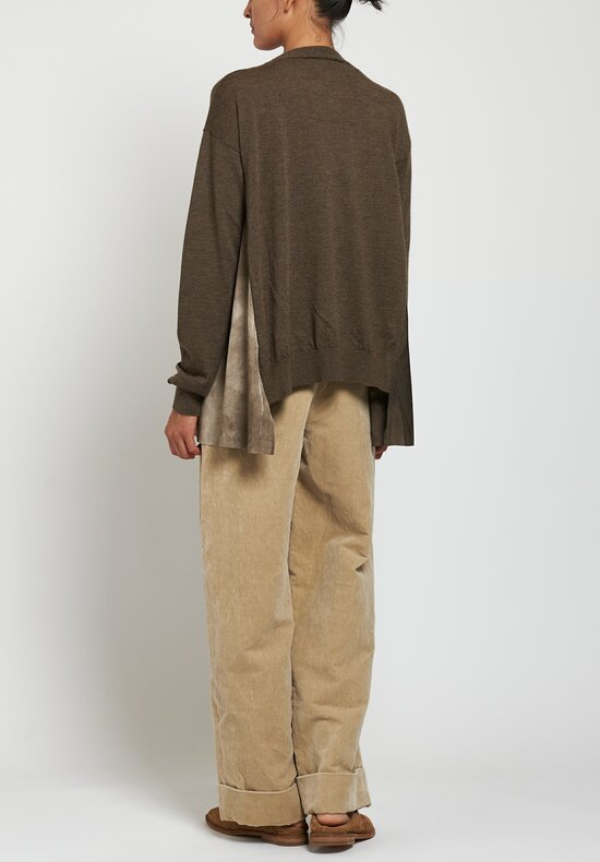 Uma Wang Knit Sweater in Brown