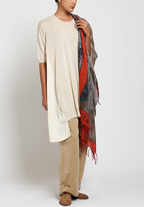 Uma Wang Knit Tunic in Off White