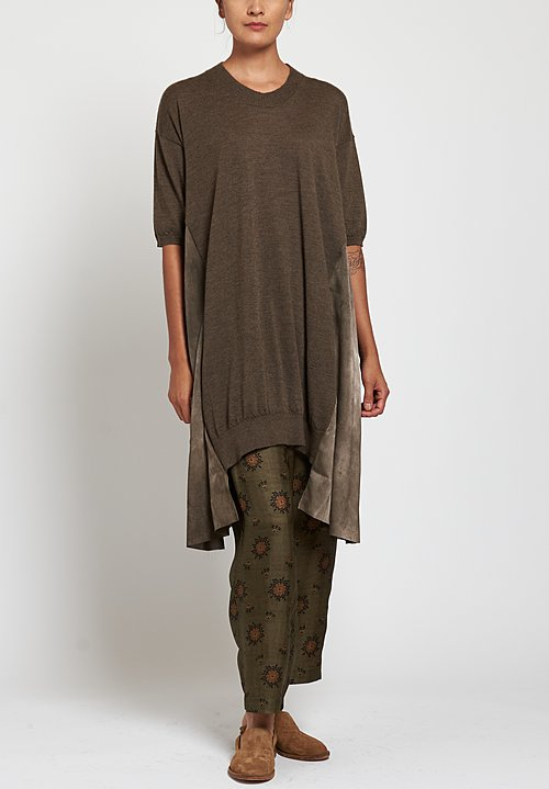 Uma Wang Knit Dress in Brown