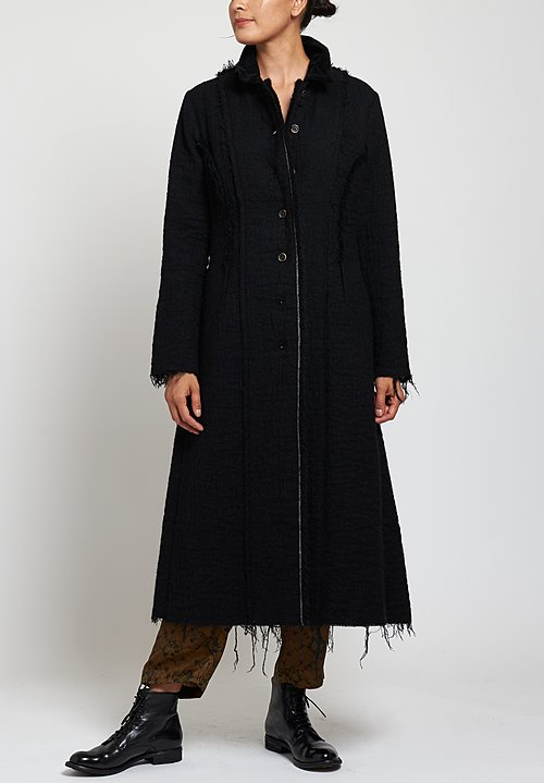 Uma Wang Davanzati Cacey Coat in Black