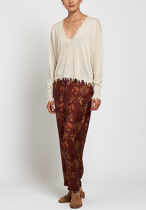 Uma Wang Moulay Pala Pants in Red/ Tan