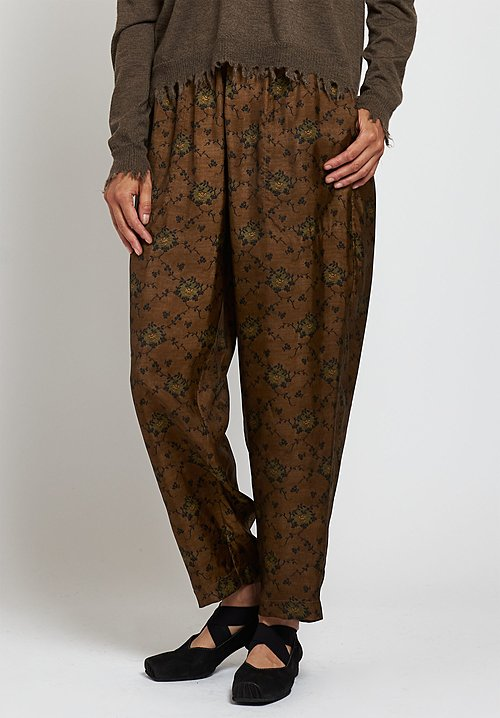 Uma Wang Moulay Pala Pants in Brown/ Green