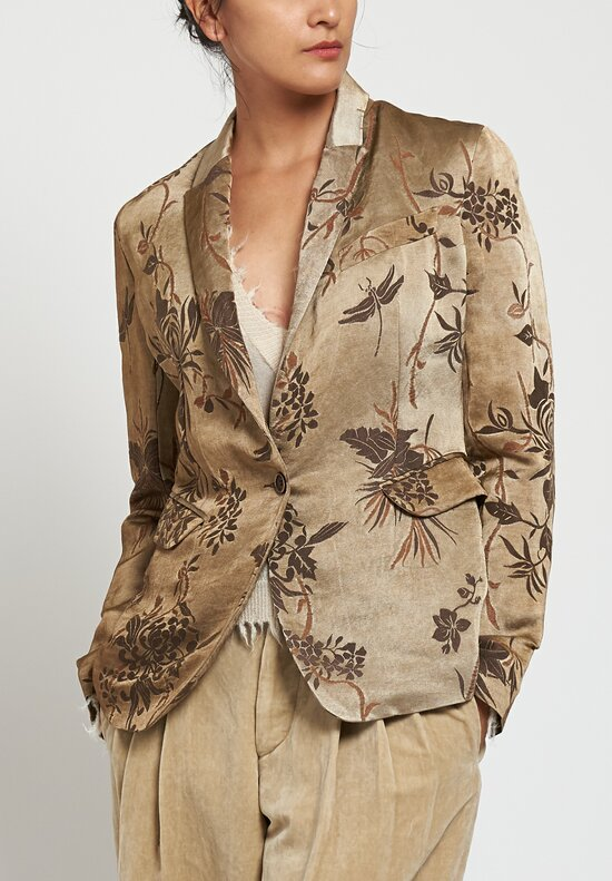 Uma Wang Sausal Karon Jacket in Tan/ Brown