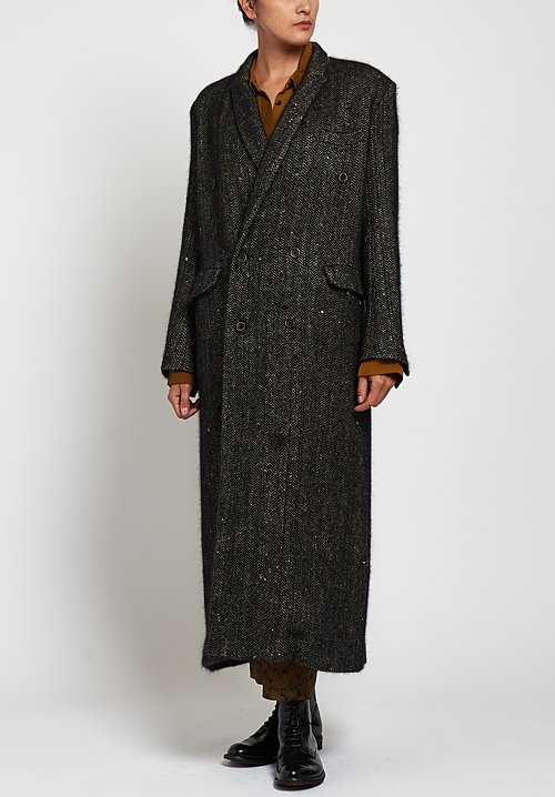 Uma Wang Pitti Cheryl Coat in Tan/ Black