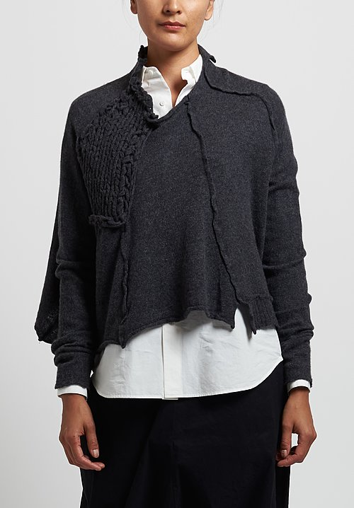 Rundholz Chunky Stitch Accent Sweater in Anthra