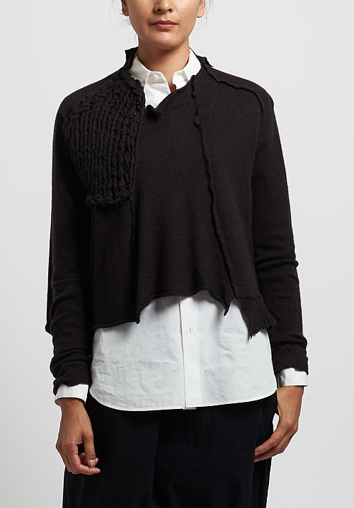 Rundholz Chunky Stitch Accent Sweater in Arabica