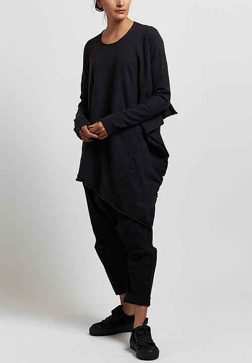 Rundholz Merin Long Asymmetric Sweater in Arabica