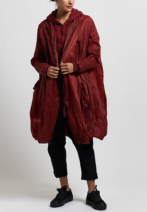 Rundholz Dip Layered Coat in Karmin