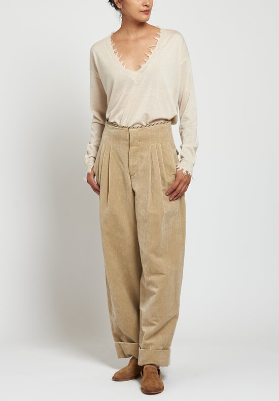 Uma Wang Foster Pearl Pants in Off White