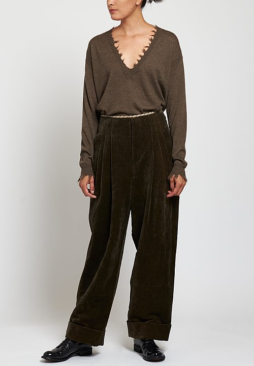 Uma Wang Foster Pearl Pants in Brown