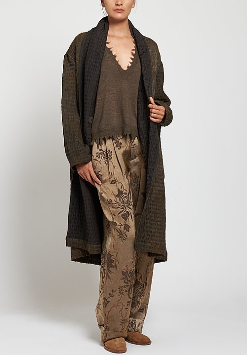 Uma Wang Sausal Pearl Pants in Tan/ Brown