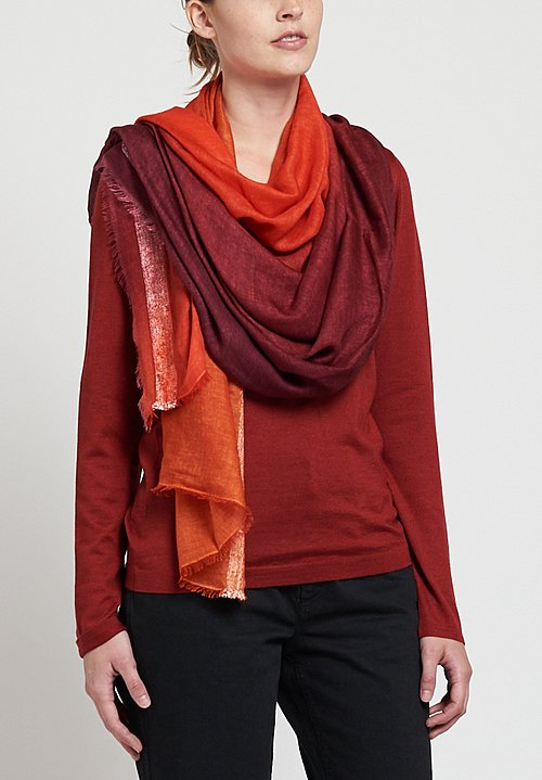 Faliero Sarti Maskara Scarf in Red / Orange
