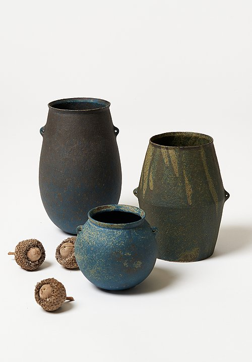 Linda Ouhbi Small Stoneware Cyclade Jug in Blue