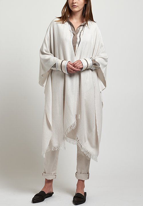 Brunello Cucinelli Paillette Poncho in White