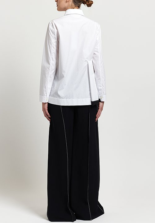 Marni Compact Cady Pintuck Trousers in Black