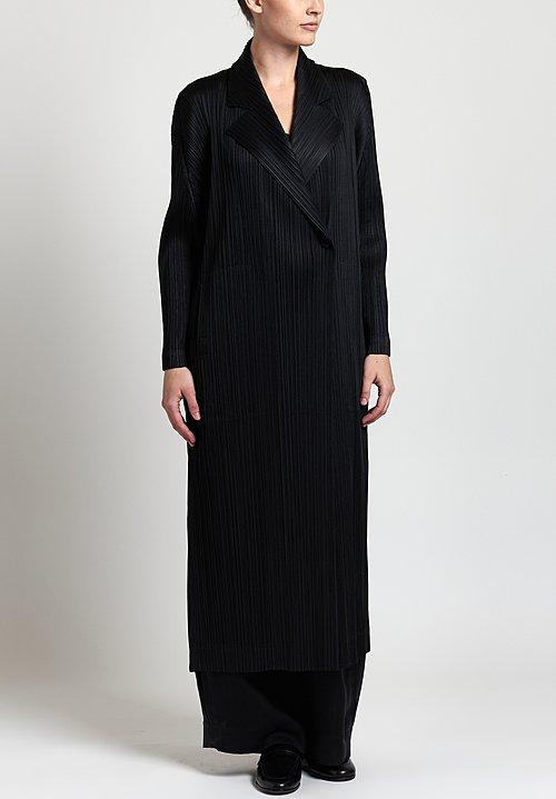 Issey Miyake Pleats Please Mannish Duster in Black