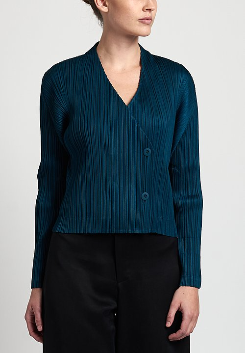 Pleats Please Mannish Jacket in Teal