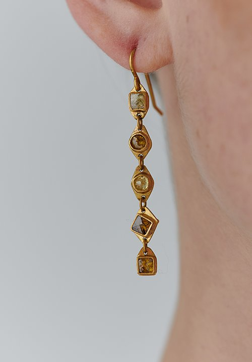 Karen Melfi 22K, Rose Cut Diamond Earrings
