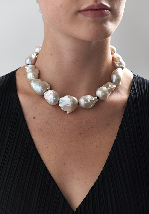 "Monies UNIQUE Baroque Pearl 15"" Necklace"