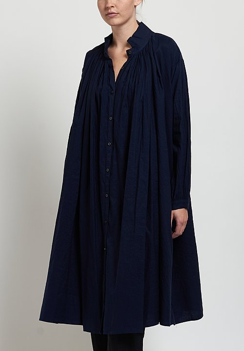 Kaval Fine Twill Dress in Dark Navy