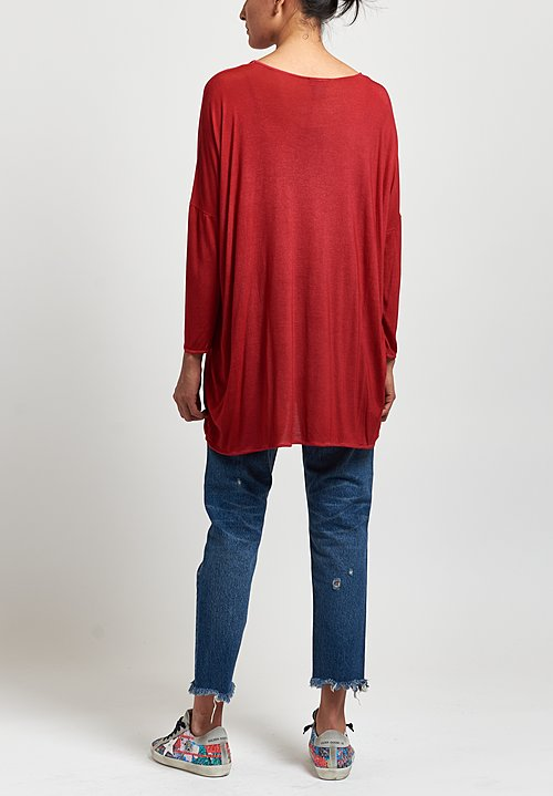 Avant Toi Round Neck Top in Bicolor