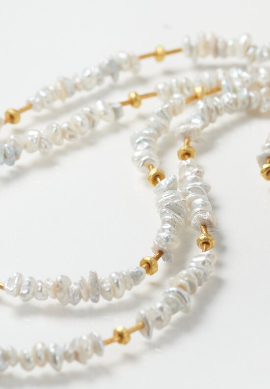 Greig Porter 18K, Pearl Long Single Strand Necklace