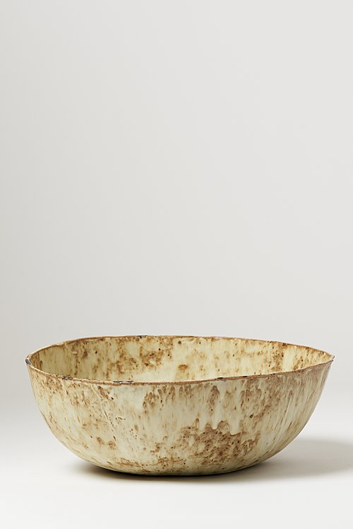 Terra Coll Clayworks Stoneware Large Salad Bowl in Eggshell
