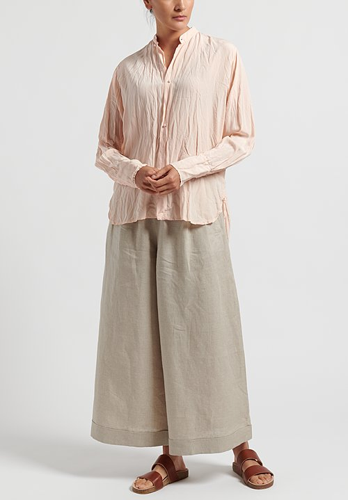 Daniela Gregis Washed Silk Crepe Andrea Shirt in Pink